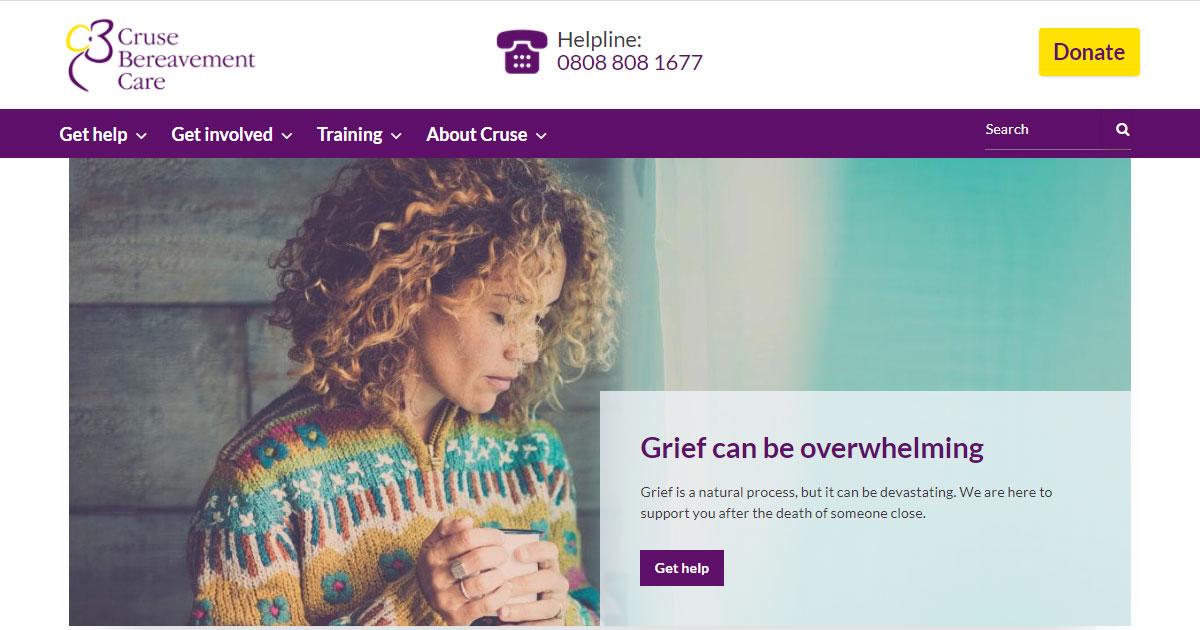 cruse bereavement care service