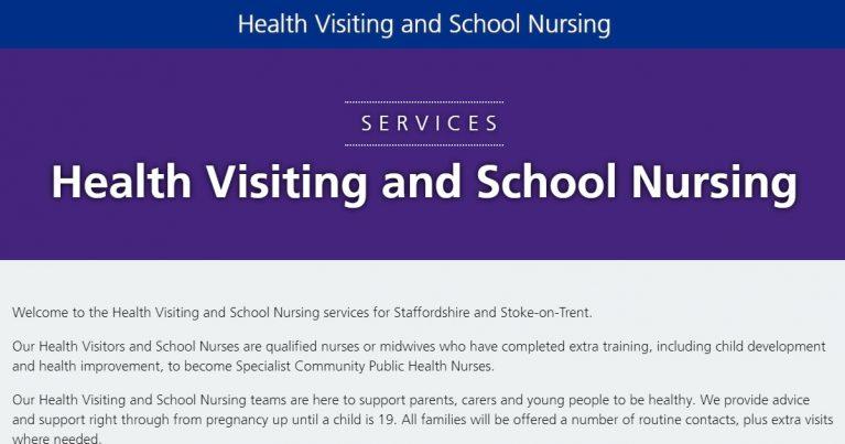 health visiting school nursing s