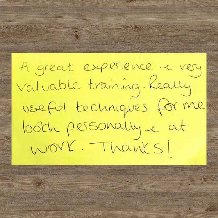 hope project testimonial feedback postit