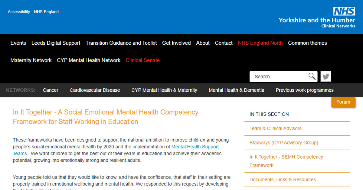 nhs semh competency resources