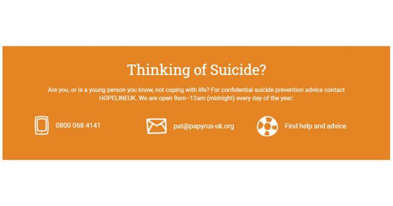 papyrus suicide prevention charity