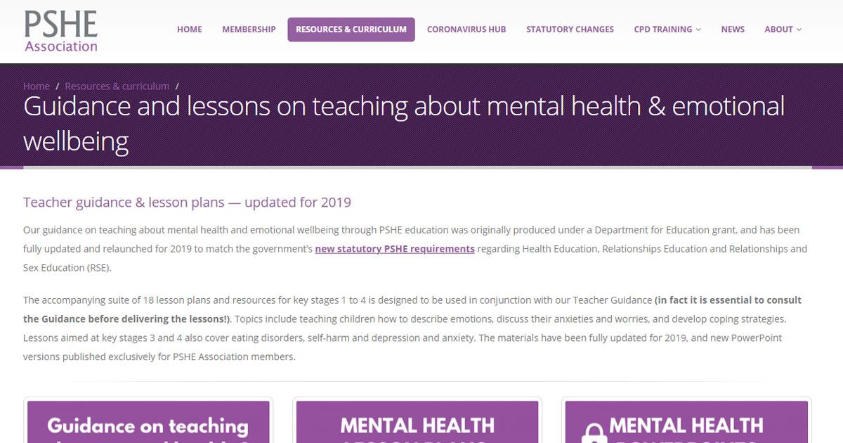 pshe teacher guidance lesson plans