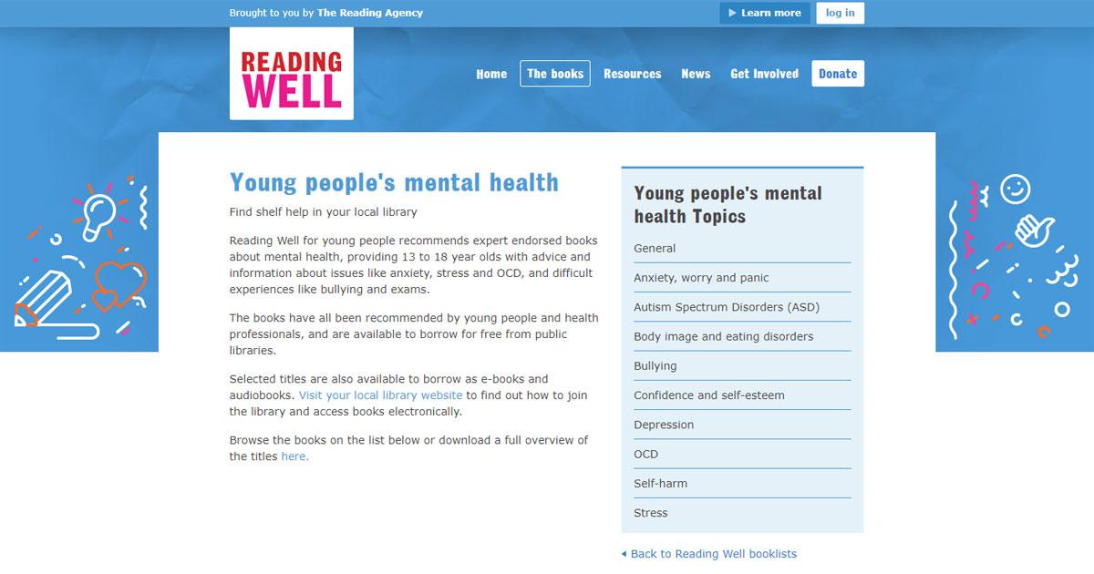 reading well self help books