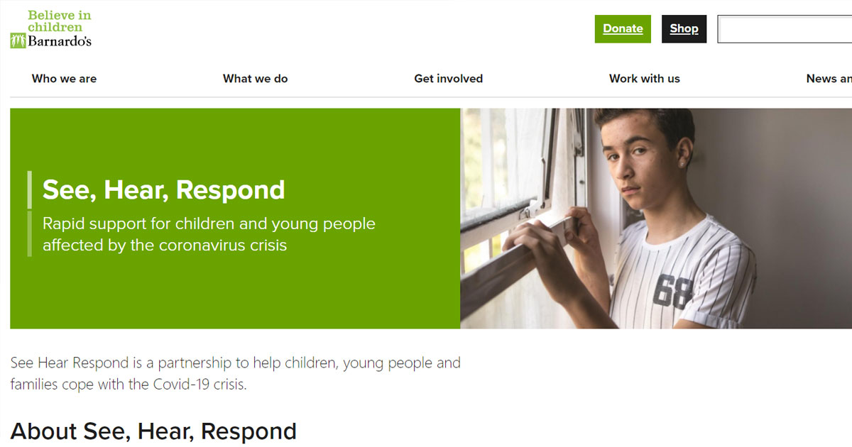 see hear respond covid mh support