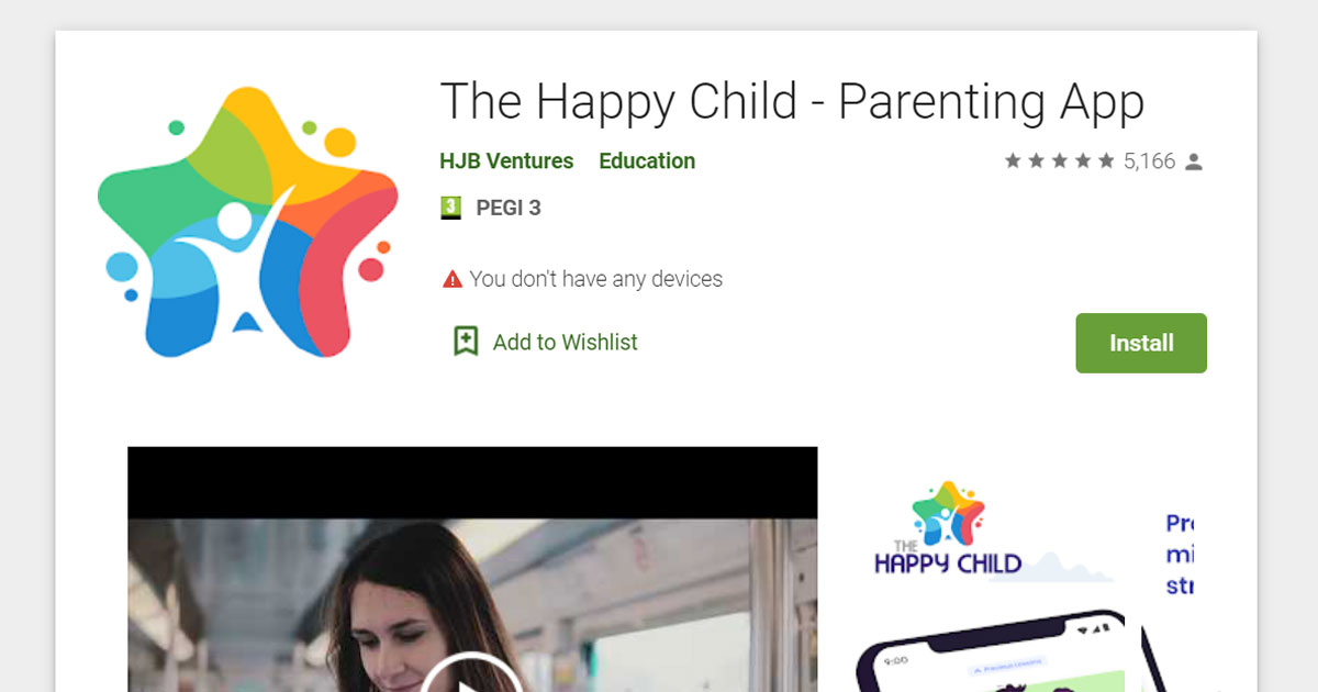 the happy child parenting app