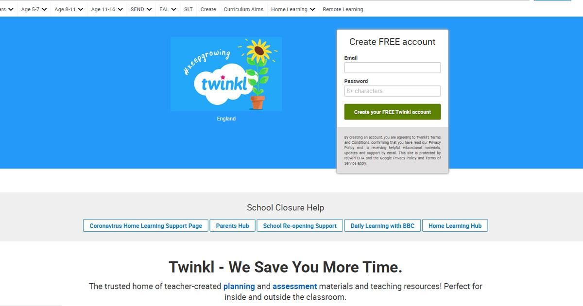 twinkl teacher resources website